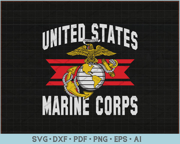 United States Marine Corps SVG, PNG Printable Cutting Files