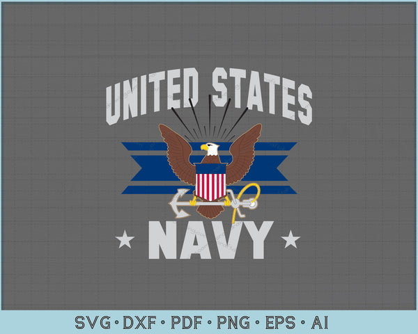 United States Navy SVG, PNG Printable Cutting Files For Instant Download