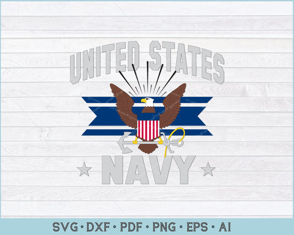 United States Navy Armed Forces SVG, PNG Printable Cutting Files