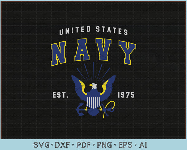 United States Navy est 1975 SVG, PNG Printable Cutting Files