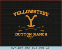 Yellowstone Dutton Ranch Montana Established 1886 SVG, PNG Printable Cutting Files