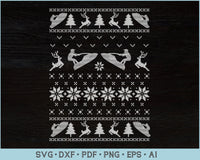 Zet Kayaks Ugly Christmas Sweater Design SVG, PNG Printable Cutting Files