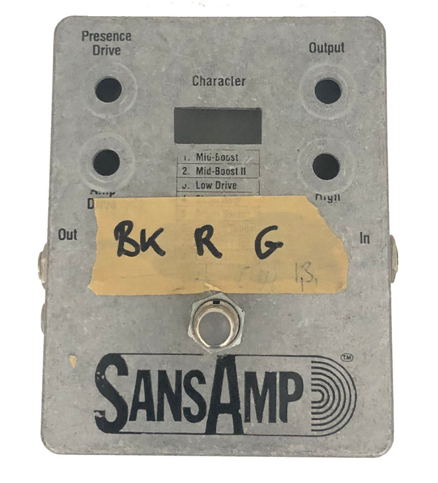 The SansAmp, the catalyst for modern amp modeling