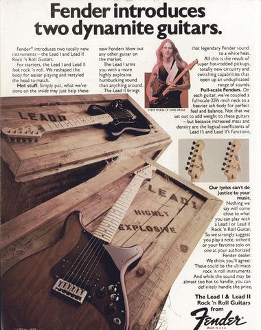 Fender Lead Series Steve Morse Guitar Ad