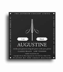 Augustine Classic Black Strings - Regular Tension Trebles / Low Tension Basses