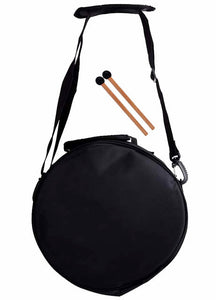 "Opus Percussion 10"" Metal 11-Note Lotus Carves Style Tongue Drum in Black"
