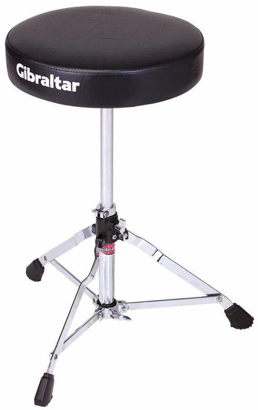 Gibraltar 5600 Series Single Braced Round Drum Throne in Black