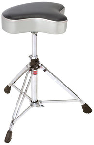 Gibraltar 6600 Series Double Braced Motostyle Drum Throne in Grey Silver Finish