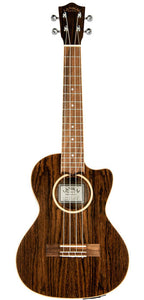 Lanikai Figured Bocote Thinbody Tenor AC/EL Ukulele in Natural Satin Finish