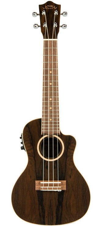 Lanikai Ziricote Series Concert AC/EL Ukulele in Natural Satin Finish