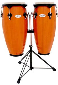 "Toca 10 & 11"" Synergy Series Wooden Conga Set in Amber"