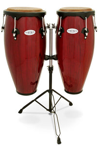 "Toca 10 & 11"" Synergy Series Wooden Conga Set in Rio Red"