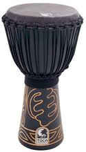 "Load image into Gallery viewer, Toca Black Mamba Series 10"" Djembe in Black with Bag"