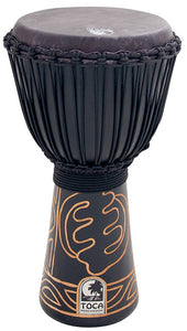 "Toca Black Mamba Series 10"" Djembe in Black with Bag"
