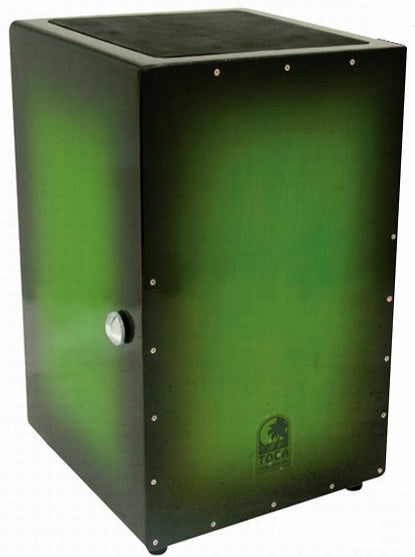 Toca Wooden Cajon in Green Burst with Internal Wire Snares