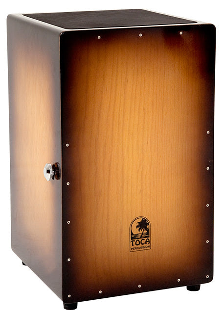 Toca Wooden Cajon in Honey Burst with Internal Wire Snares