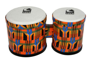 "Toca 5 & 6"" Freestyle Series Synthetic Bongos in Kente Cloth"