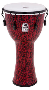 "Toca Freestyle 2 Series Mech Tuned Djembe 10"" in Red Mask"