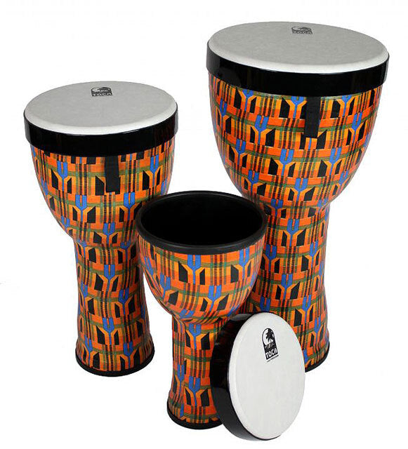 Toca Freestyle 2 Series Nesting Djembes in Kente Cloth - PK3
