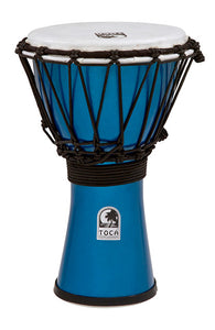 "Toca Freestyle Colorsound Series Djembe 7"" in Metallic Blue"