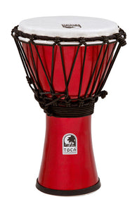 "Toca Freestyle Colorsound Series Djembe 7"" in Metallic Red"