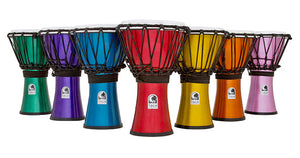 "Toca Freestyle Colorsound Series Djembe 7"" in Asst Colours - 7Pk"