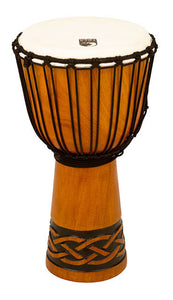 "Toca Origins Series Wooden Djembe 10"" Synthetic Head in Celtic Knot"