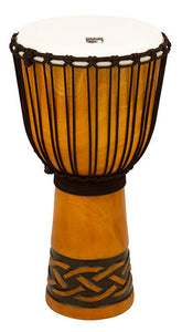"Toca Origins Series Wooden Djembe 12"" Synthetic Head in Celtic Knot"