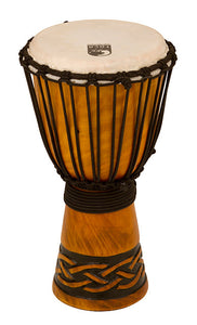 "Toca Origins Series Wooden Djembe 8"" Synthetic Head in Celtic Knot"