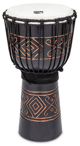 "Toca Street Carved Series Wooden Djembe 10"" Synthetic Head in Onyx"
