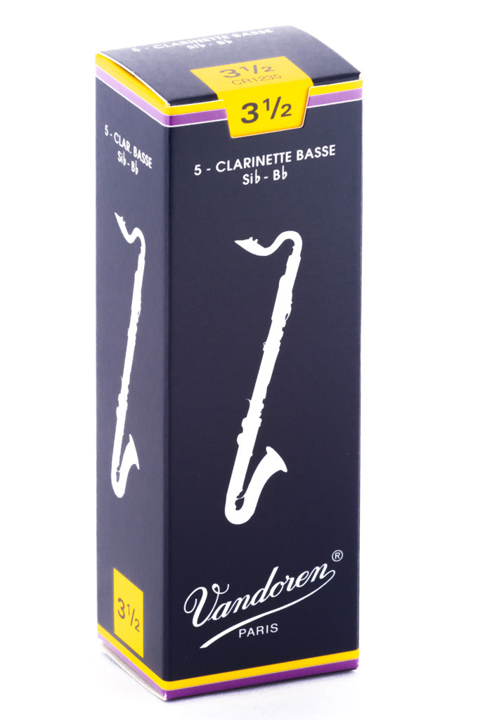 Vandoren Bass Clarinet Reeds - TRADITIONAL - Gr 3.5 - Box of 5