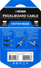 Load image into Gallery viewer, BOSS BCK-6 Pedalboard cable kit