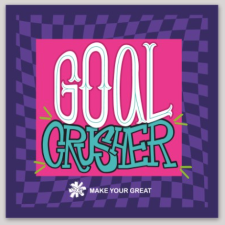 GOAL CRUSHER sticker