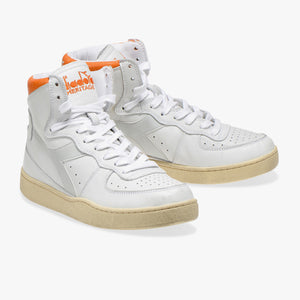 Sneakers - Heritage Mi Basked Used (White / Orange) - Illinois Gent