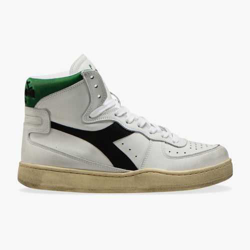 Sneakers - Heritage Mi Basked Used (White / Black / Green) - Illinois Gent