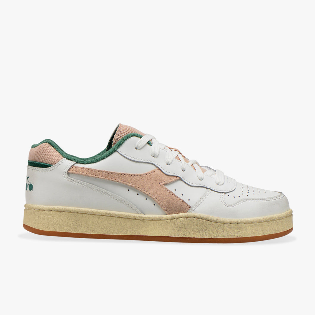 Sneakers - Mi Basket Low Used (Groen/Roos) - Illinois Gent