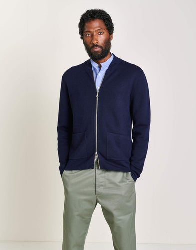 Cardigan - Dilfi (Navy) - Illinois Gent
