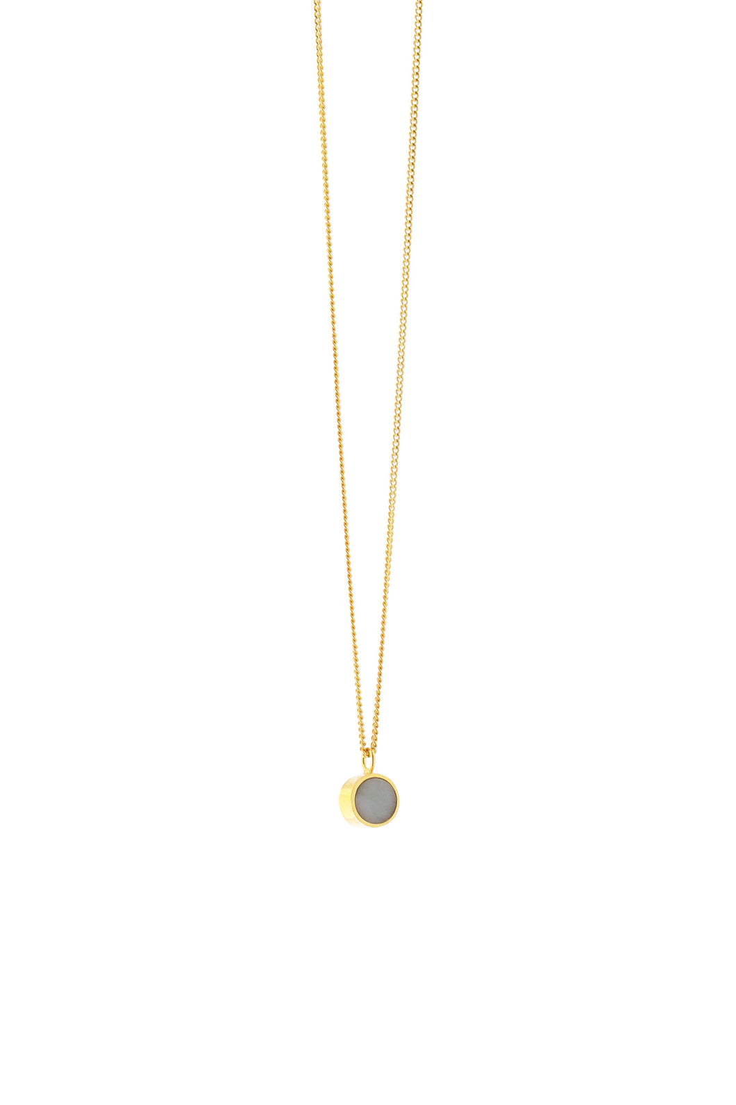 Ketting - met Amazonite (Gold plated silver) - Illinois Gent