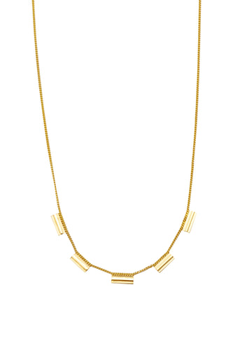 Ketting - IK1 (Gold plated silver) - Illinois Gent