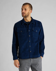 Overshirt -Loco Patch (Corduroy Blue) - Illinois Gent