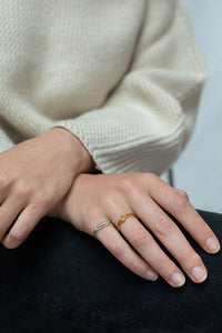 Ring - Sublte and minimal (Gold plated silver) - Illinois Gent