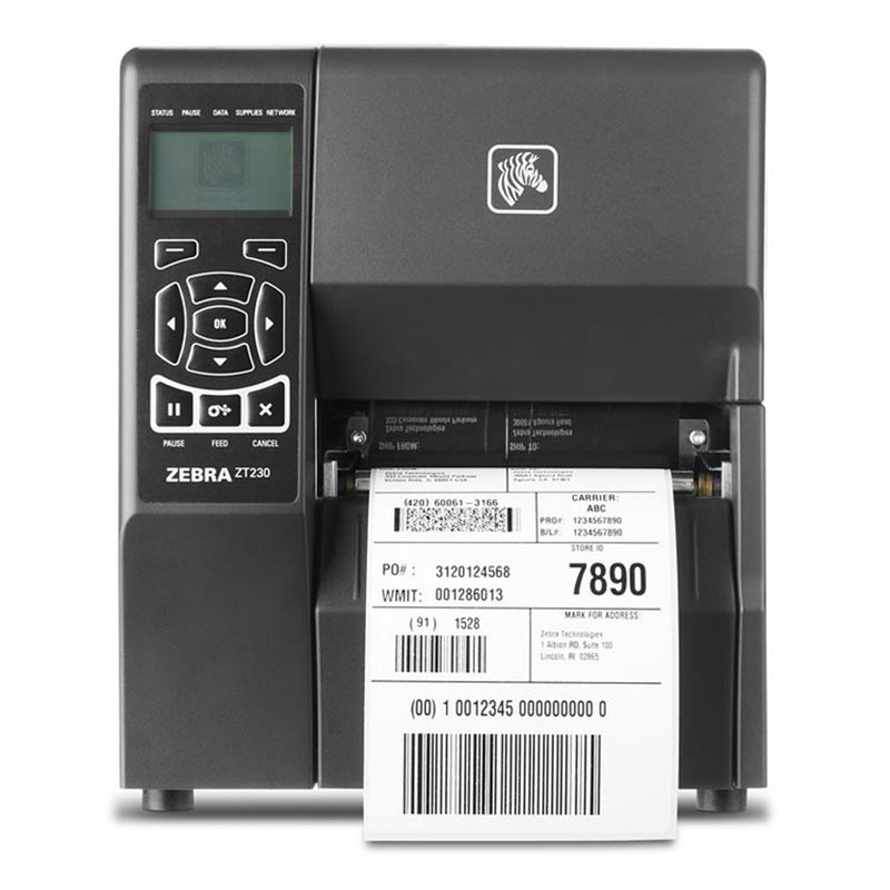 Zebra ZT230 Thermal Transfer Industrial Label Printer 300dpi ZT23043-T0E000FZ
