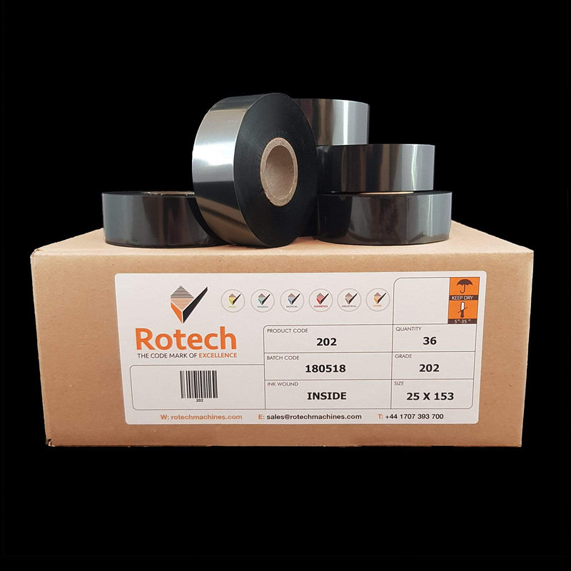 """FX"" Hot Foil Tape 25mm x 153m (Box of 36) Hot Stamping Foils SKU 000202 Rotech Machines"
