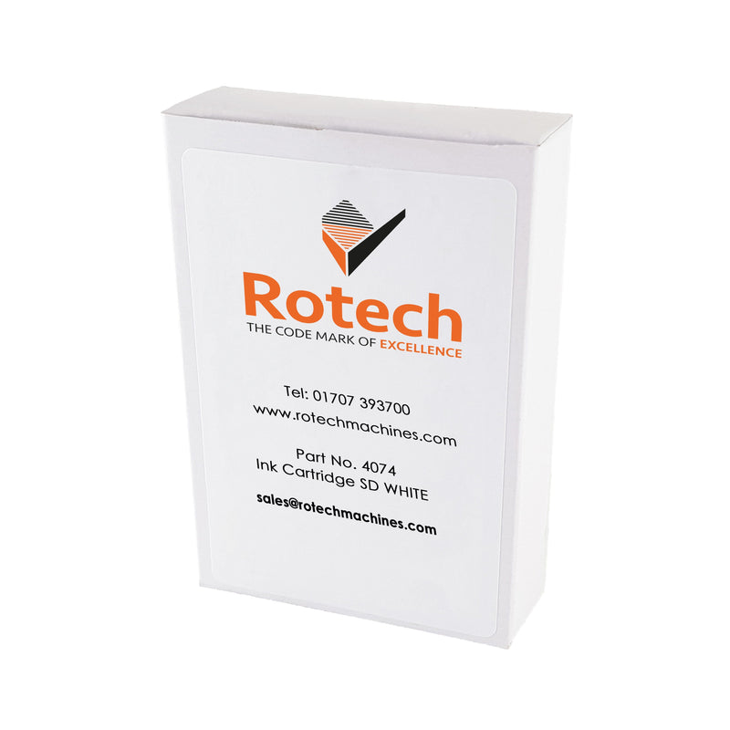 Rotech Ink Cartridge - SD White 35ml Inkjet Cartridges SKU 004074 Rotech Machines