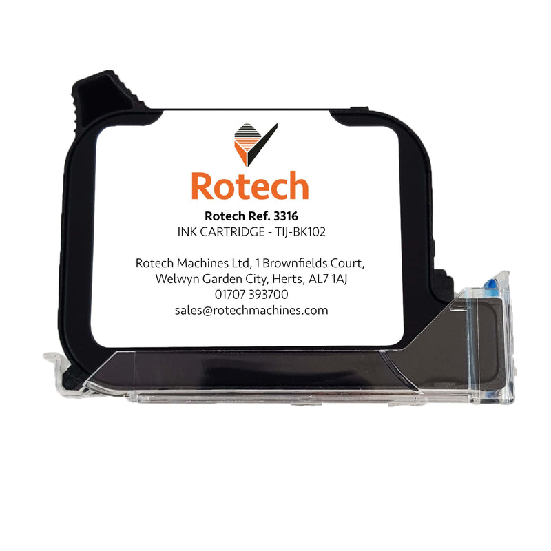Rotech Ink Cartridge - TIJ-BK102 42ml (Box of 5) Inkjet Cartridges SKU 003316 Rotech Machines