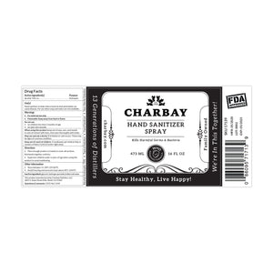 Charbay Hand Sanitizer Spray Refill 16 oz 4 PACK (4 x 16 fl oz)