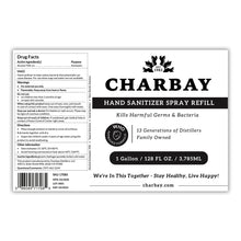 Load image into Gallery viewer, Charbay Hand Sanitizer Spray Refill - 1 Gallon