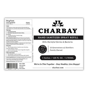 Charbay Hand Sanitizer Spray Refill - 1 Gallon