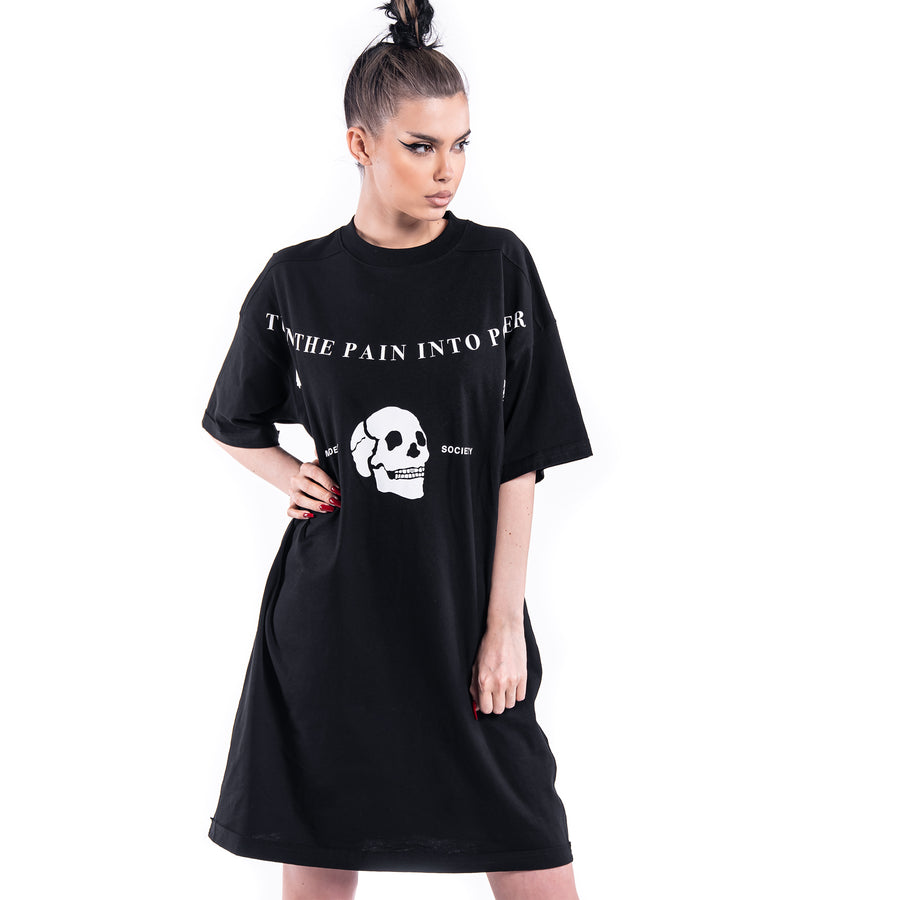TURN THE PAIN T-DRESS - D21684