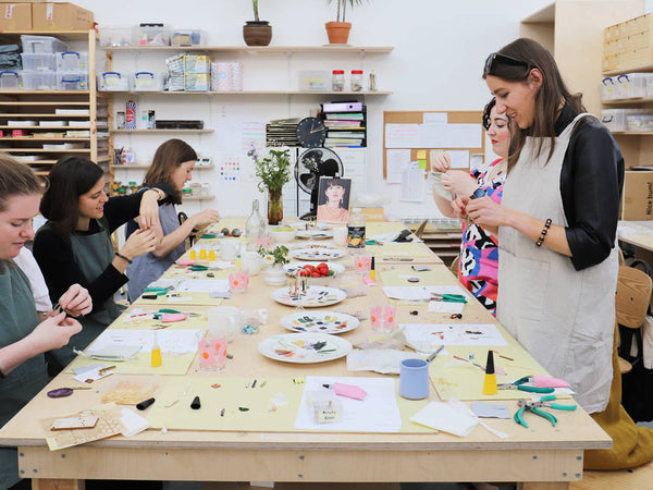 Our first jewellery-making workshops